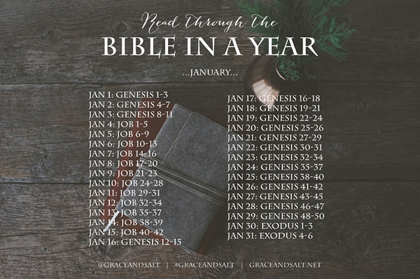 It is a photo of Massif Read Through the Bible in a Year Printable Schedule